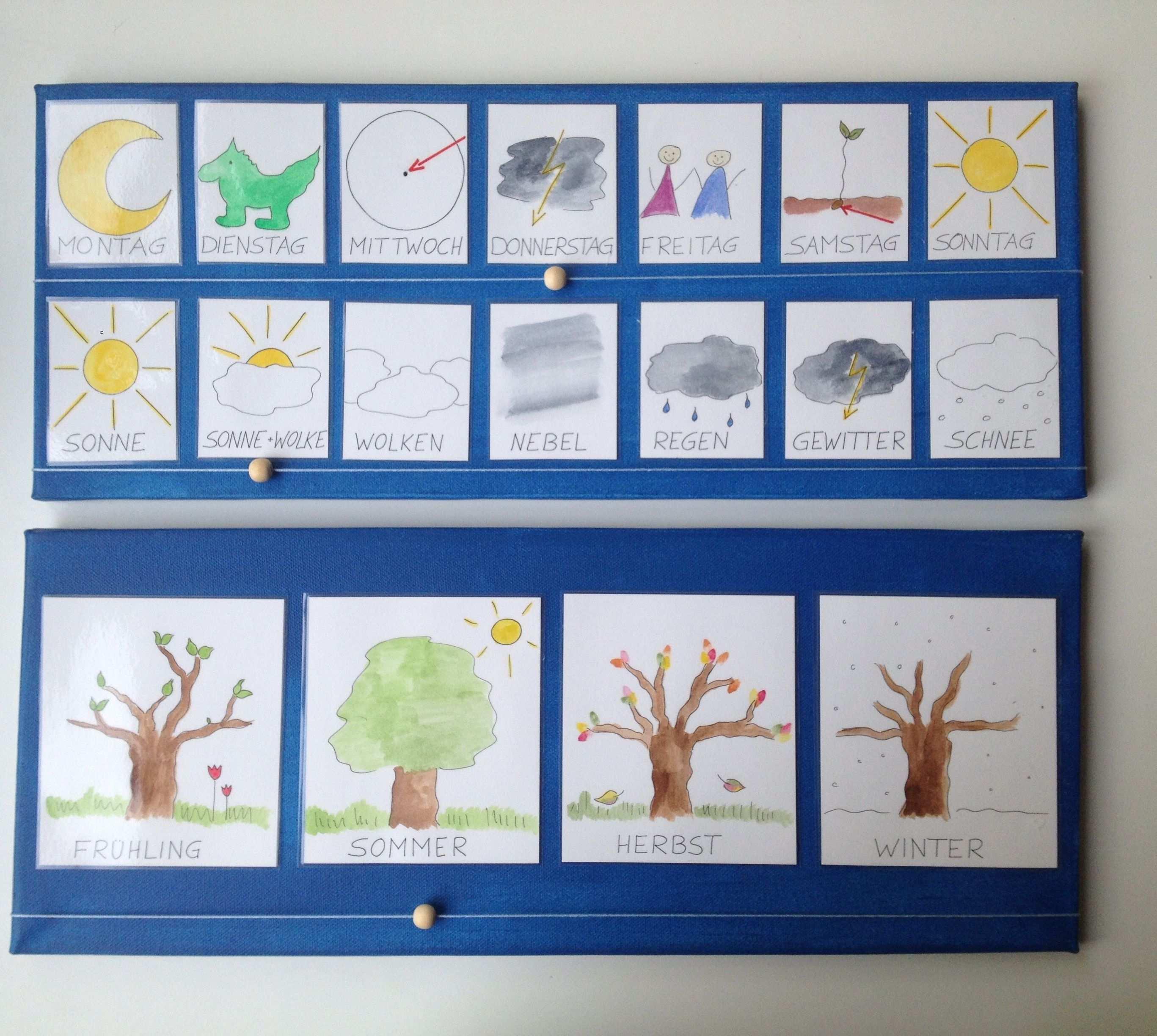 Wochenplan Kindergarten Kalender Fur Kinder Kindergarten Basteln Wochen Planer
