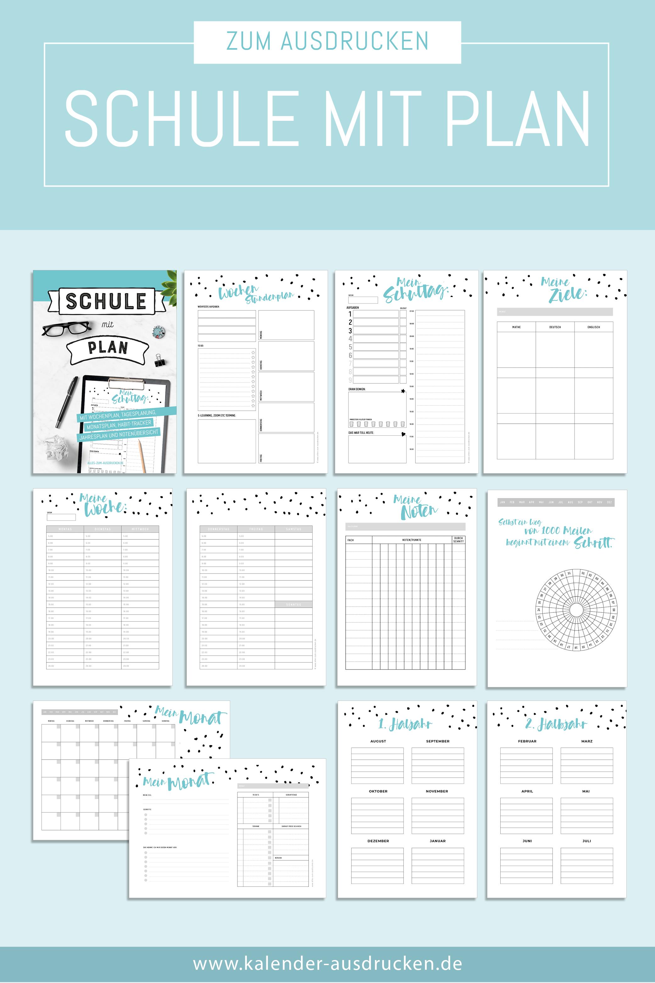 Homeschooling Organization Schule Zuhause Hausaufgaben Planer Wochenplan Zum Ausdrucken Lehrer Planer