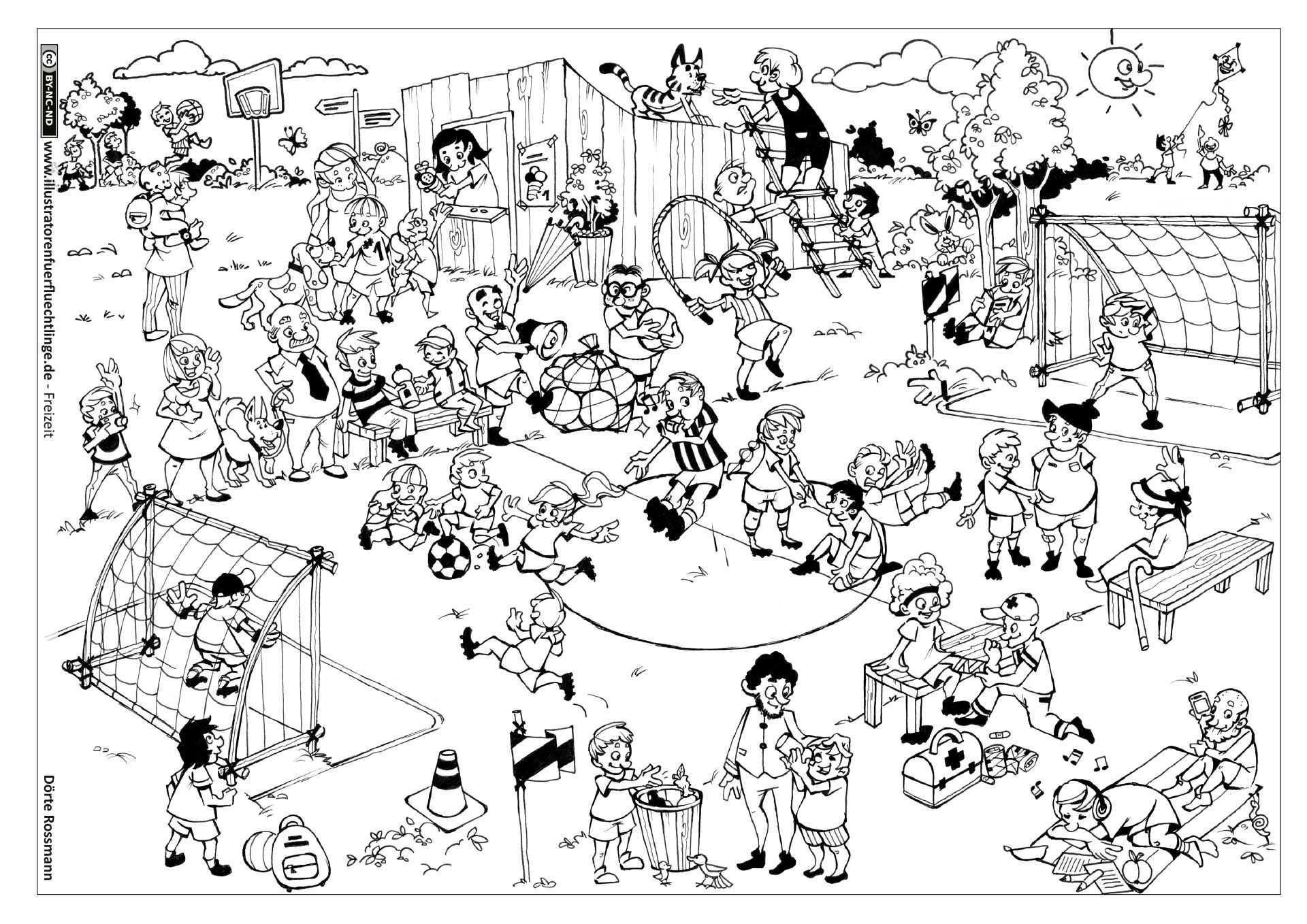 Download Als Pdf Freizeit Fussball Fussballspiel Rossmann Ausmalbilder Ausmalen Malvorlagen Tiere