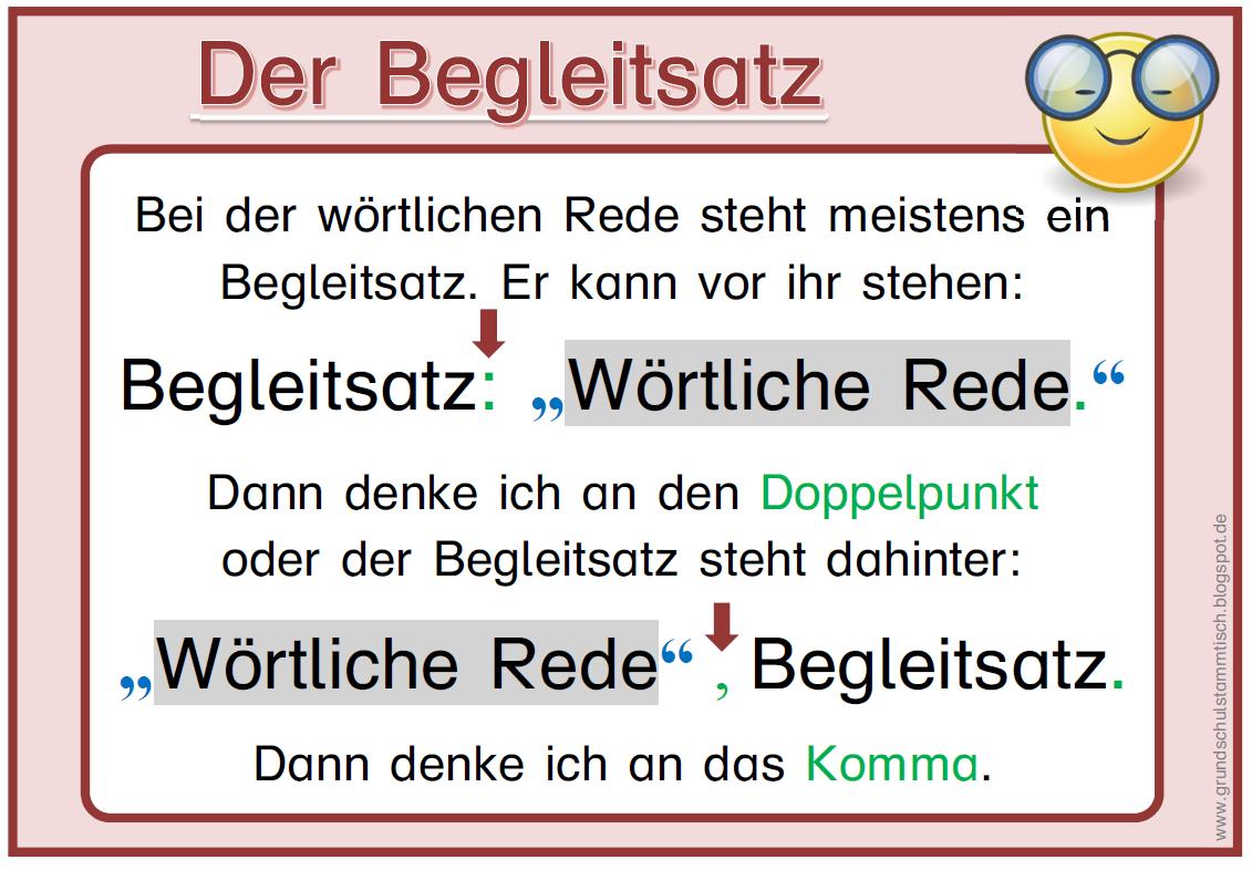 Merkplakat Wortliche Rede Wortliche Rede Deutsch Unterricht Lernen