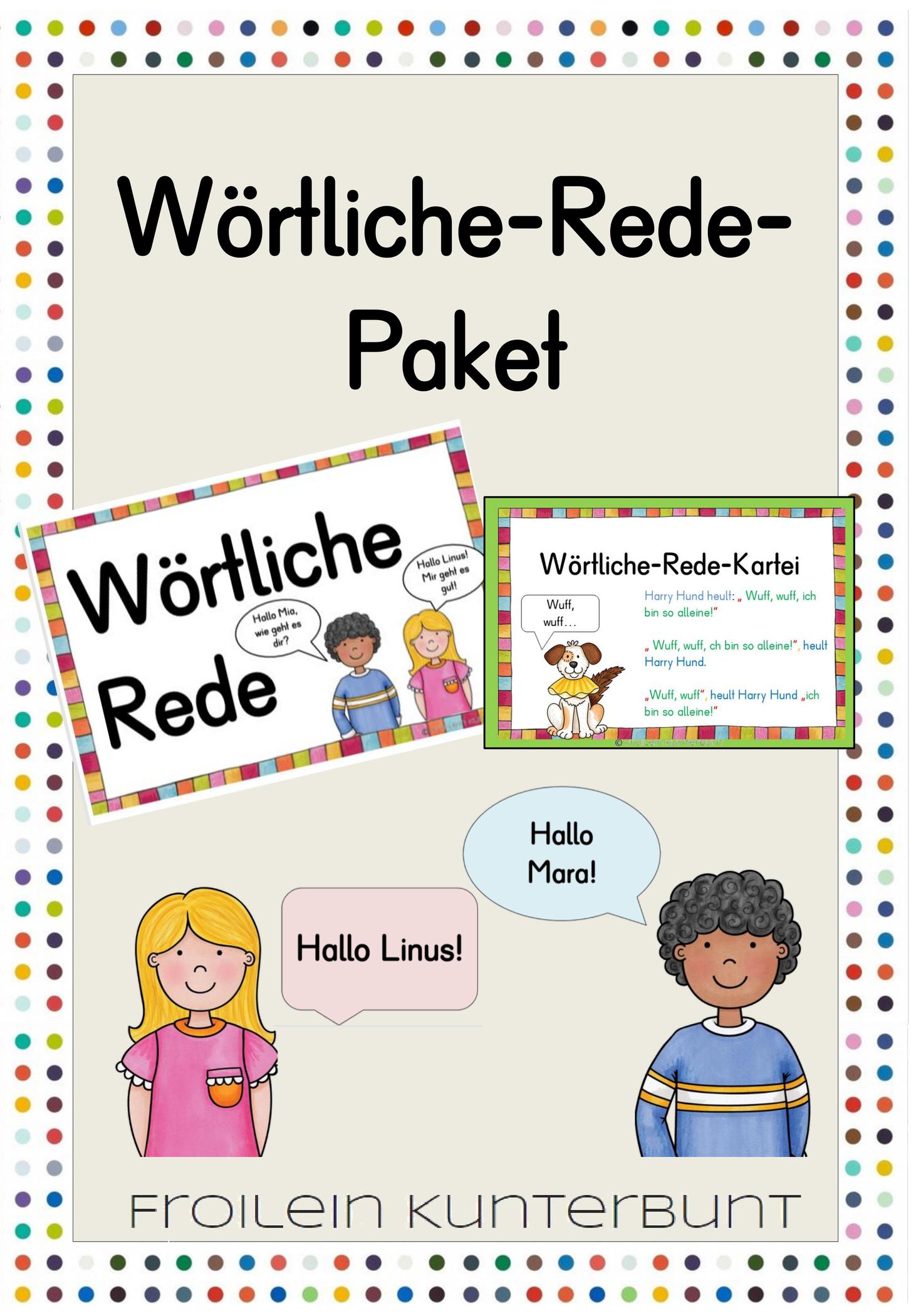 Wortliche Rede Paket Wortliche Rede Deutsch Unterricht Unterrichtsmaterial