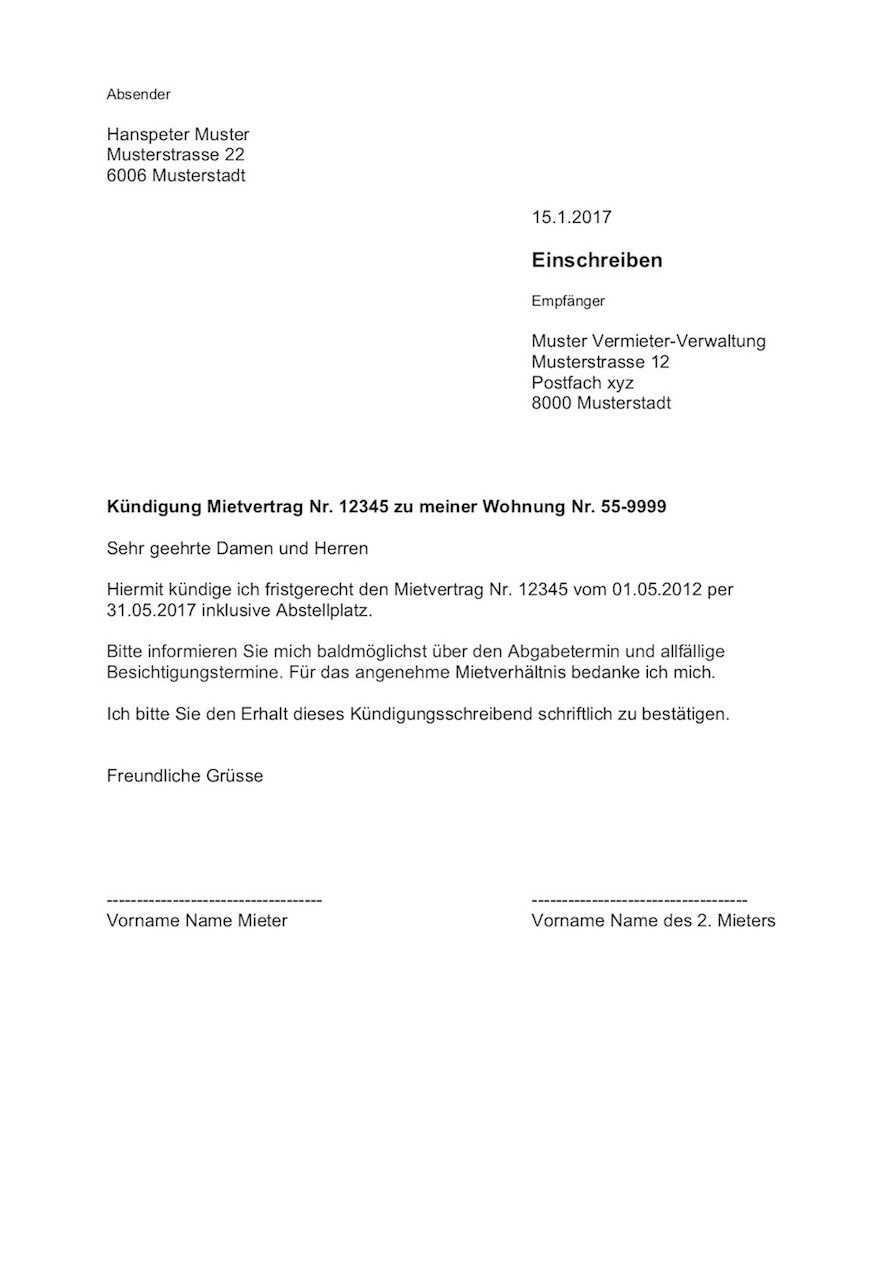 Vorlage Kundigung Wohnung Mietvertrag Schweiz Gratis Download Mietverhaltnis Korrekt Kundigen Fristgerec Wohnungskundigung Vorlagen Lebenslauf Lebenslauf