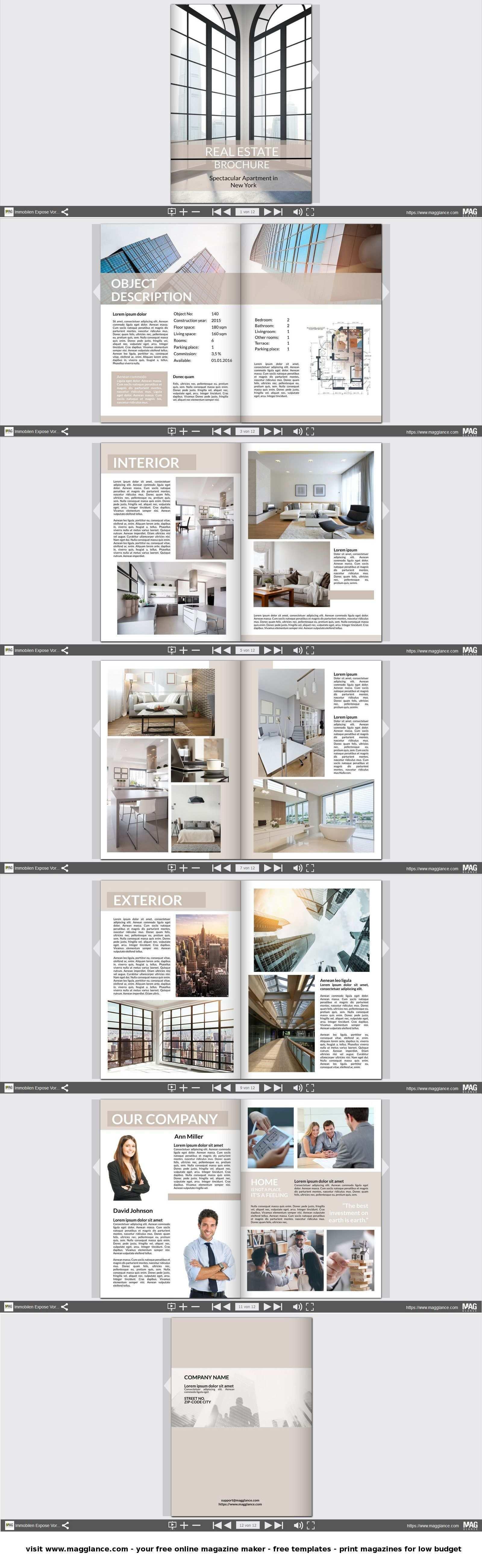 Immobilien Expose Kostenlos Online Erstellen Und Gunstig Drucken Unter De Magglance Com Immobilien Expose Wohne Expose Immobilien Immobilien Broschure Design