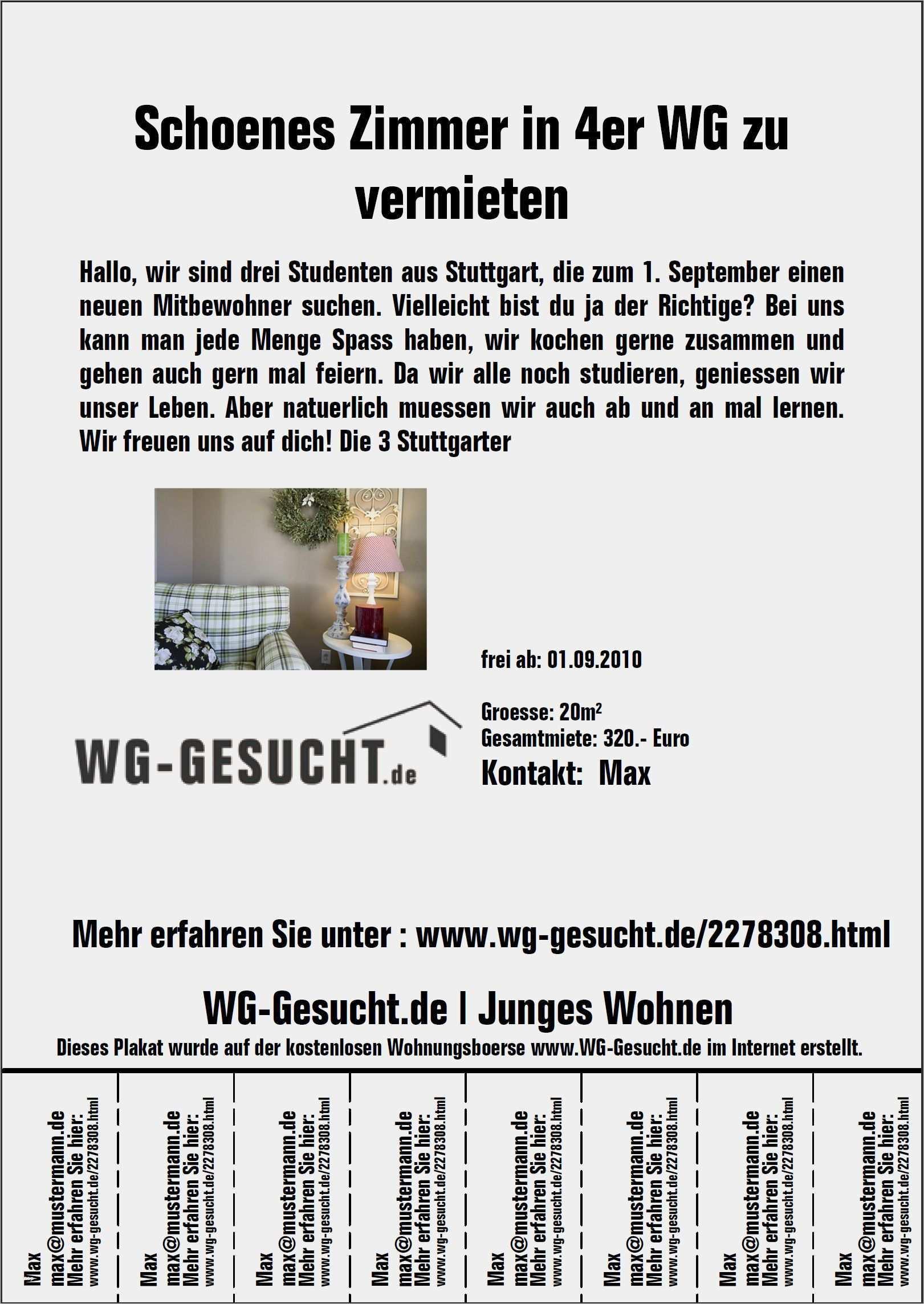 Erstaunlich Wohnungsanzeige Aufgeben Vorlage Bilder Vorlagen Lebenslauf Vorlagen Word Flyer Vorlage