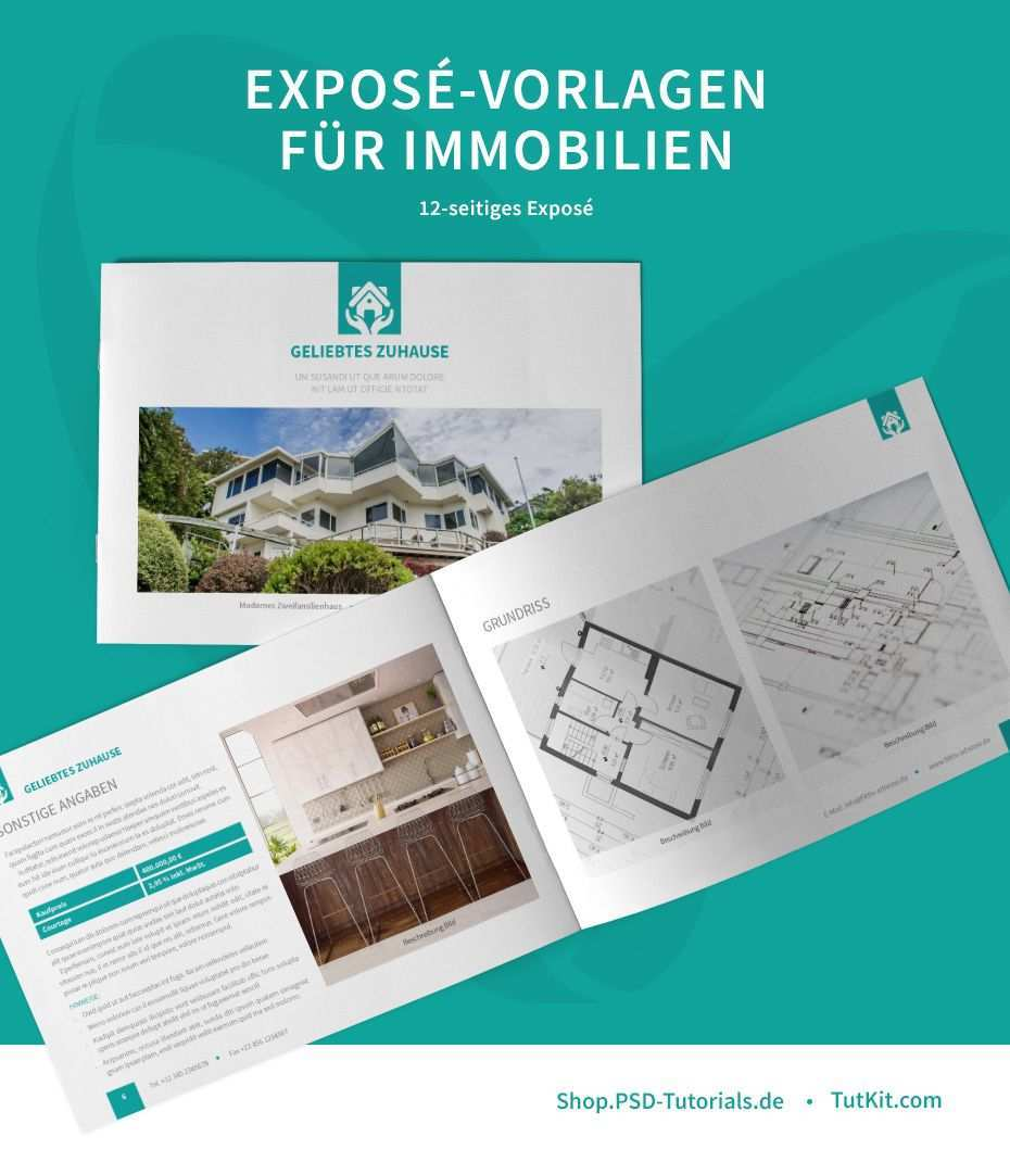 Expose Vorlagen Fur Immobilien Hauser Word Indesign Corel Powerpoint Immobilien Expose Immobilien Vorlagen