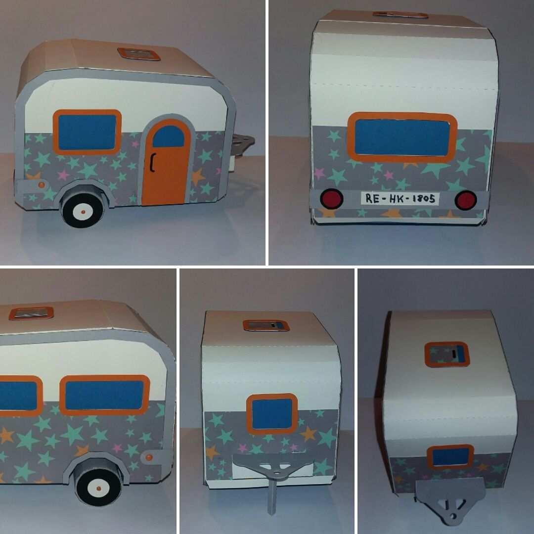 Wohnwagen Aus Papier Basteln Basteln Basteln Mit Papier Camping Geschenke Basteln