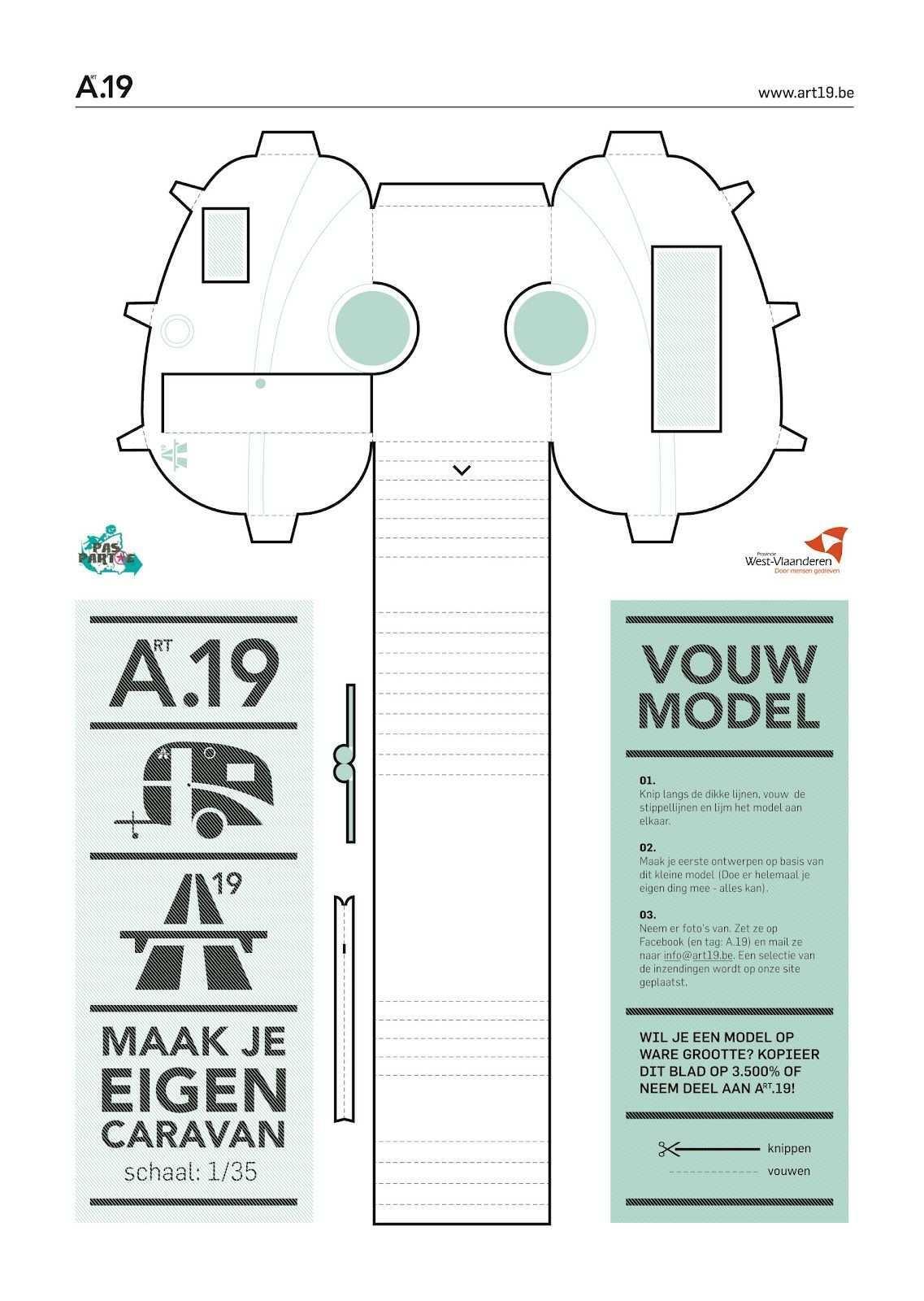 Paper Diy Caravan For The Kids Bastelbogen Karten Basteln Anleitungen