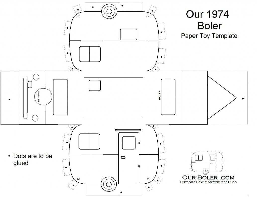 Boler Trailer Paper Toy Template Shell 1024x786 Jpg 1 024 786 Pixels Paper Toys Template Paper Toys Paper Houses