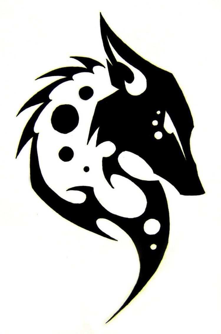 Wolf Tattoo Vorlage Mit Tribal Look Stammeszeichnungen Stammes Wolf Wolf Tattoo