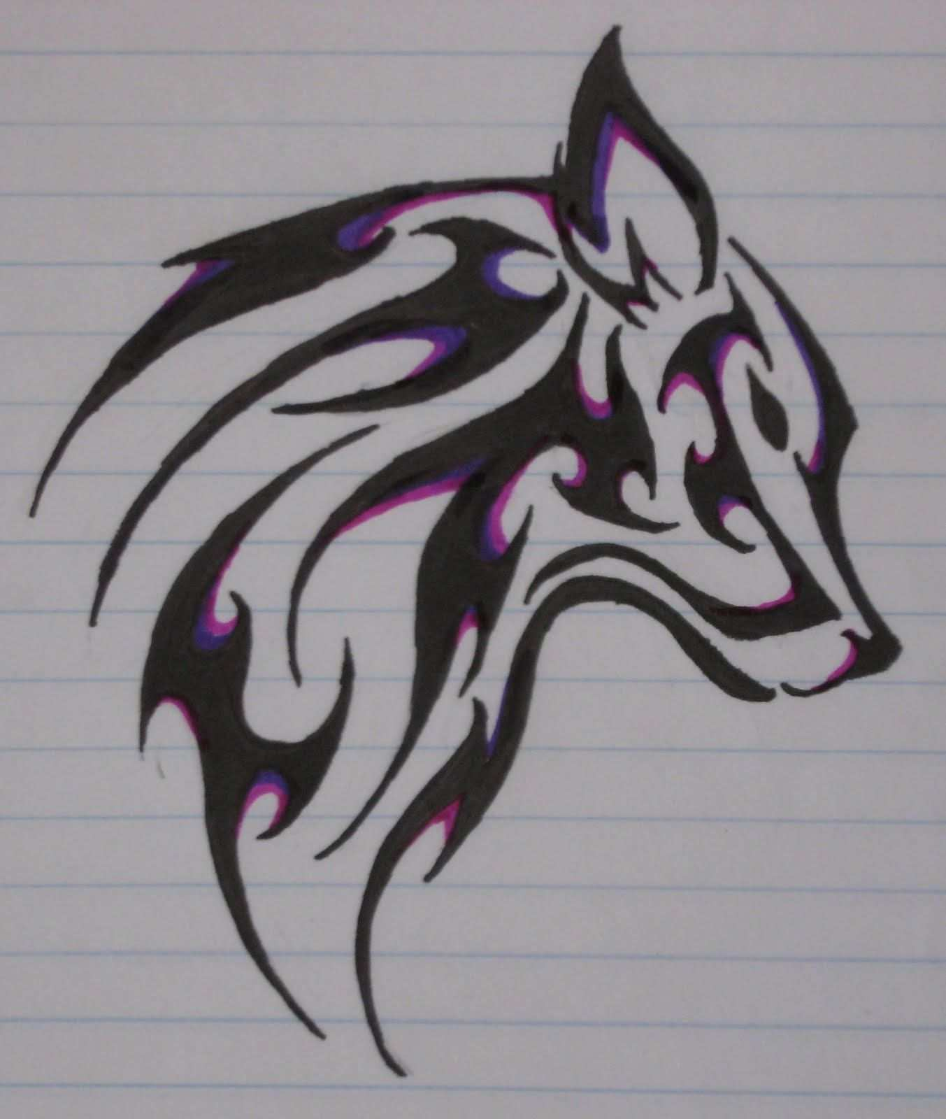 Pin By Arianna Power On Wolf Tribal Wolf Tattoo Tribal Drawings Tribal Wolf