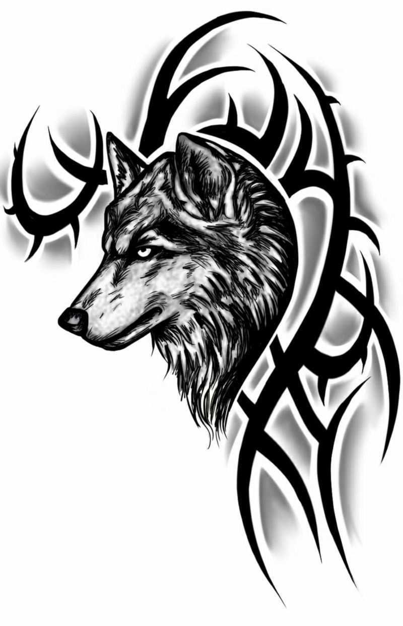 Tattoo Vorlagen Mann Wolf Tribal Wolf Tattoo Wolf Tattoos Men Wolf Tattoo Meaning