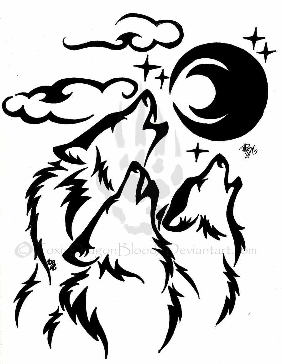 Pin Von Jenny Henze Auf Wolf Zeichnung Wolf Silhouette Stammes Wolf Wolfskunst
