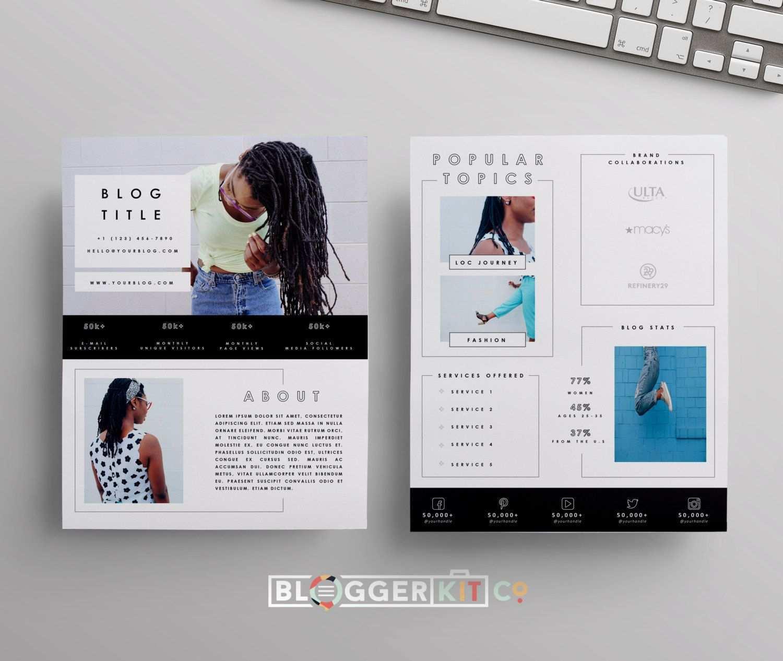 Zwei Seiten Media Kit Vorlage Drucken Sie Kit Vorlage Etsy Media Kit Template Blog Media Kit Press Kit Template