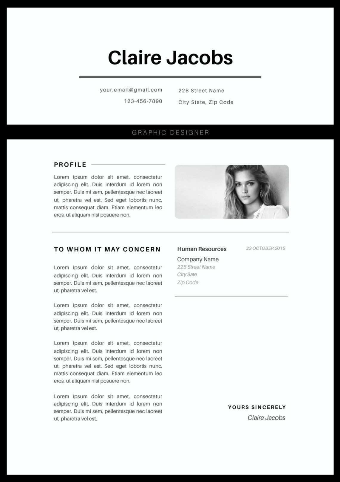 Creative Resume Template Cv Template Instant Download Editable In Ms Word And Pages Cover Letter Size A4 And Us Letter Lebenslaufvorlage Kreativer Lebenslauf Vorlagen Lebenslauf