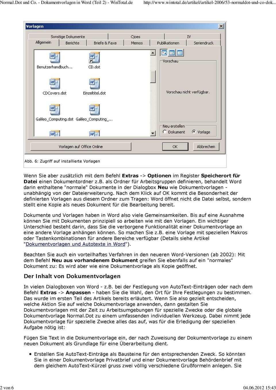 Normal Dot Und Co Dokumentvorlagen In Word Teil 2 Pdf Free Download
