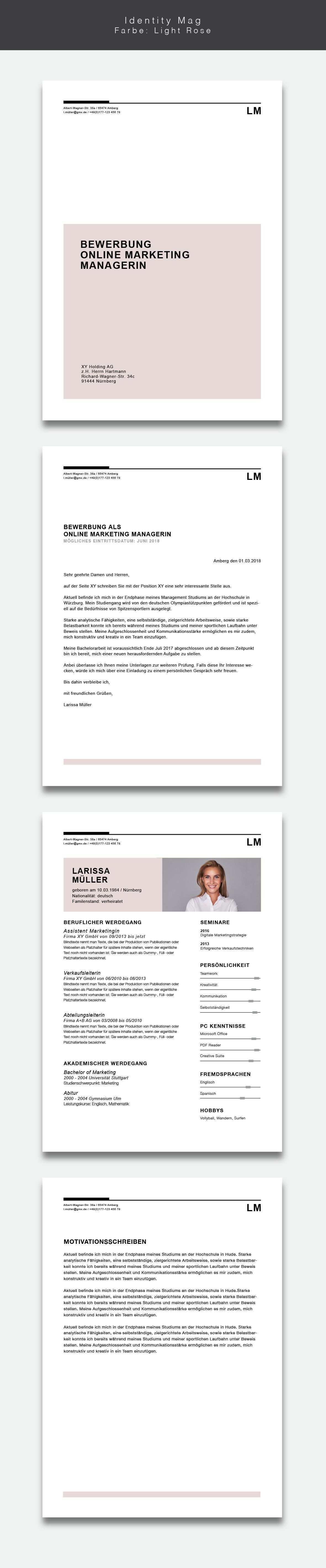 Bewerbungsvorlage Lebenslauf Identity Mag Bewerbung Lebenslauf Kreativer Lebenslauf
