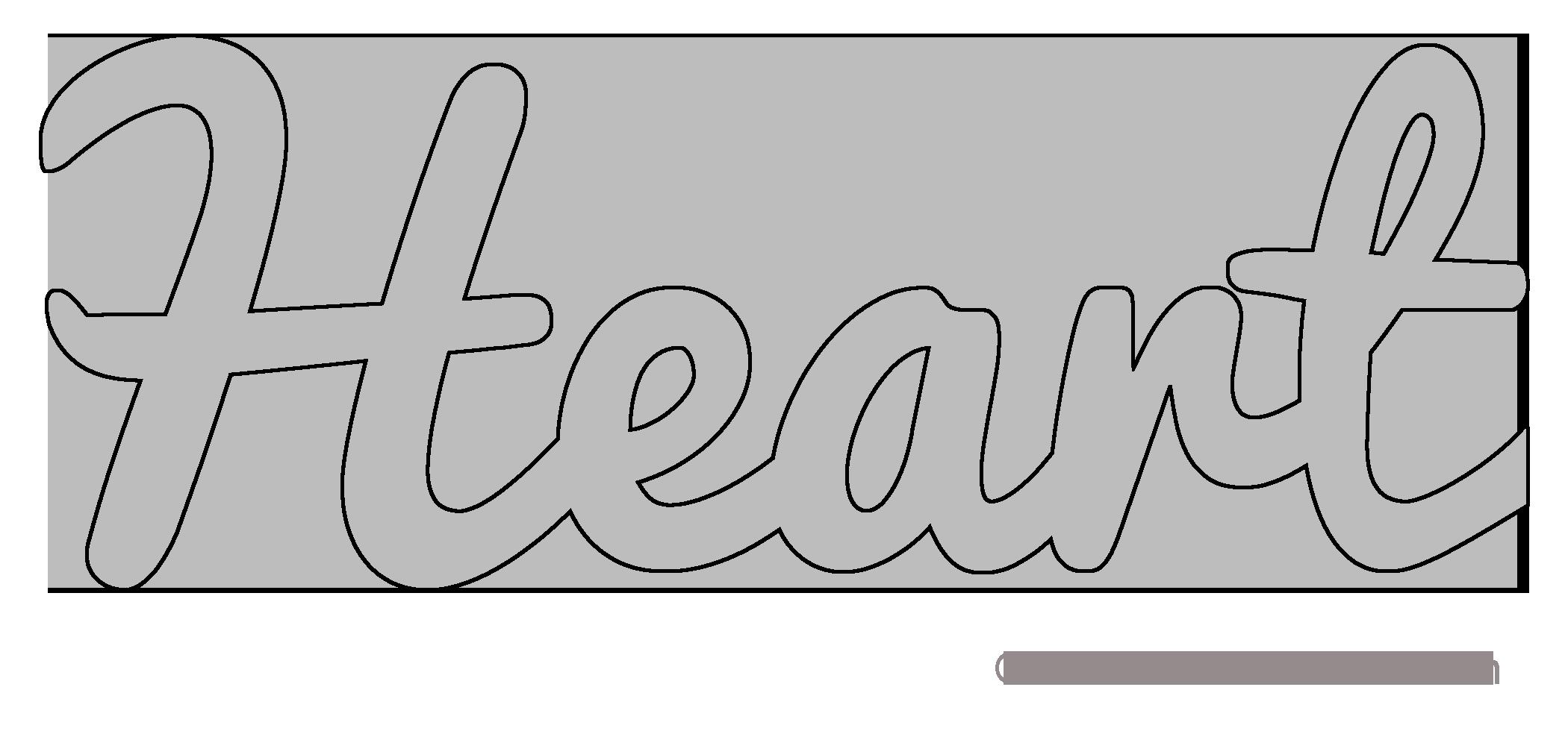 Heart Pattern Template Stencil Printable Clip Art Design Scroll Saw Pattern Word Art Downloadable Free Word Art Word Art Design Stencil Patterns