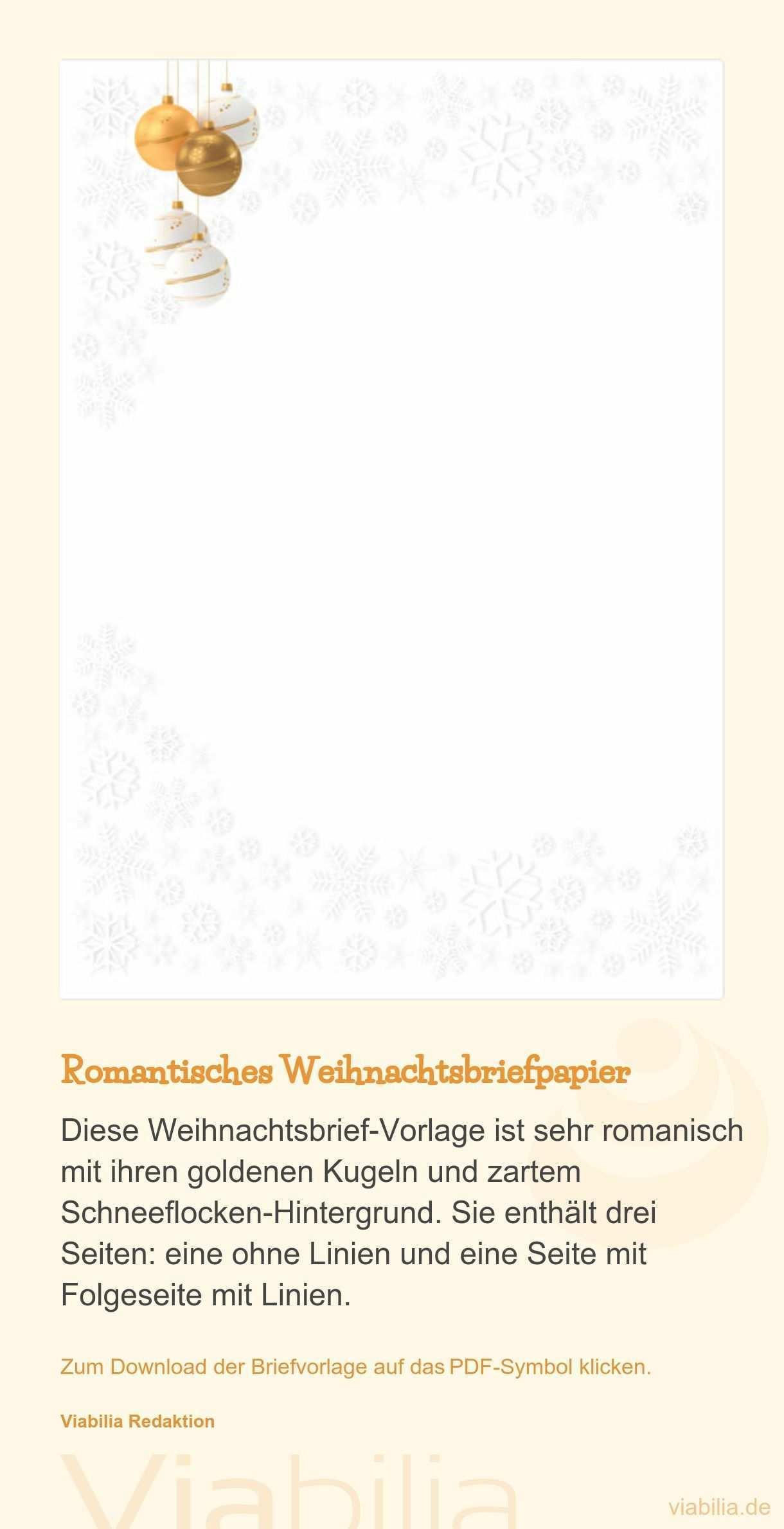 Romantisches Weihnachtsbriefpapier Kostenlos Herunterladen Unlinierte Und Linierte Version Zum Download Der Brief Weihnachtsbrief Briefvorlagen Vorlagen Word