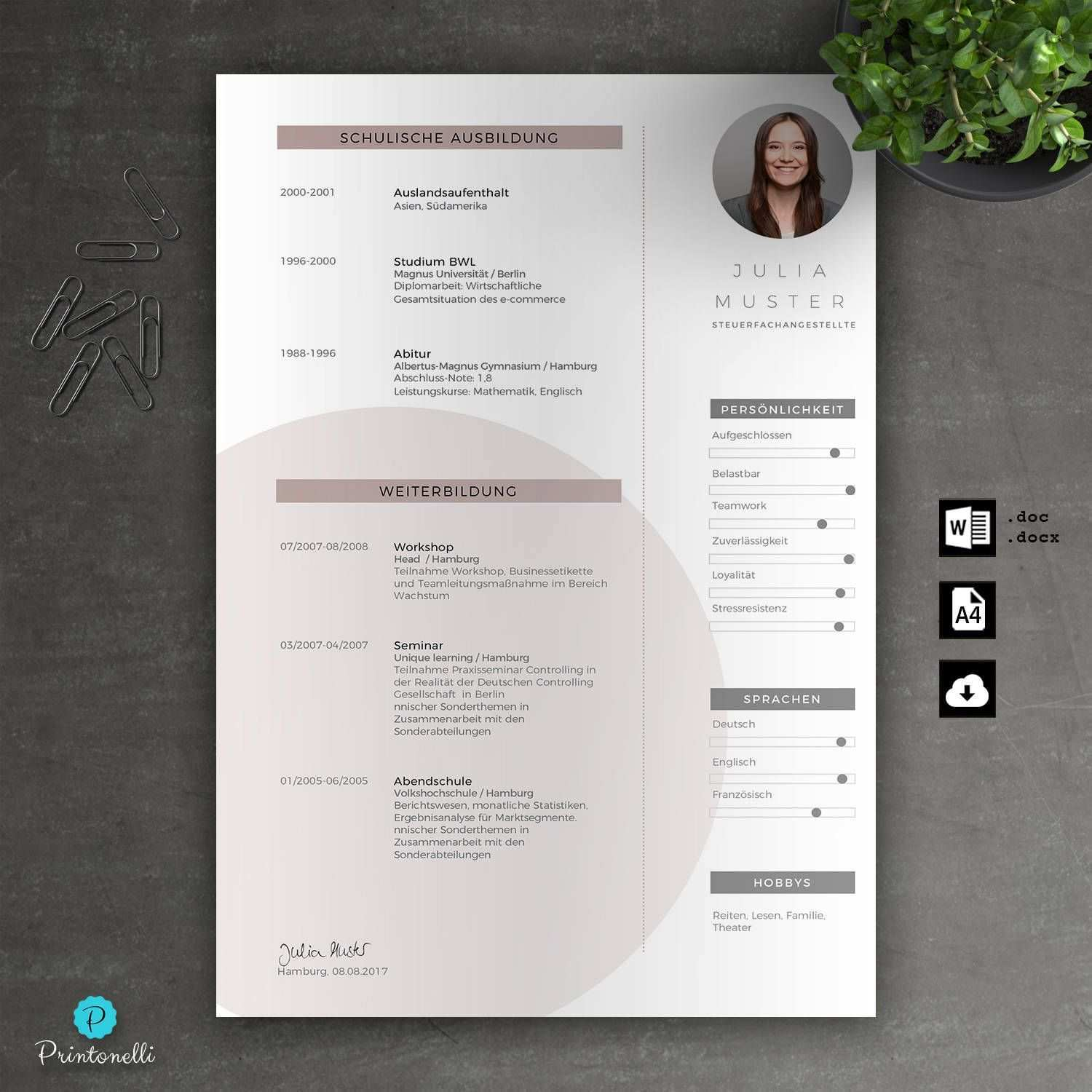 Application Template Word Cover Page Cv Cover Letter Letter Of Motivation Mac Pc No 7 3 Rose Din A4 Lettering Cover Pages Templates