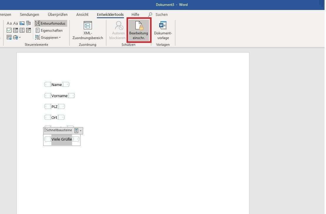 Formular Mit Word Erstellen So Erstellen Sie Ein Ausfullbares Dokument