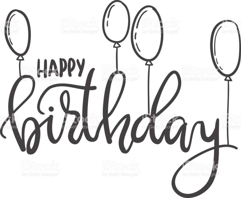 Happy Birthday Hand Lettering Typography Template For Posters Alles Gute Zum Geburtstag Kalligraphie Alles Gute Geburtstag Alles Gute Zum Geburtstag Schrift