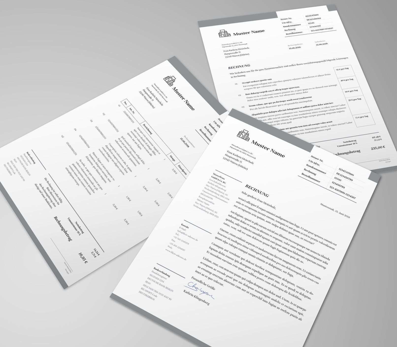 Rechnungsvorlagen Lieferscheine Und Angebote Fur Word Co Rechnungsvorlage Rechnung Vorlage Vorlagen
