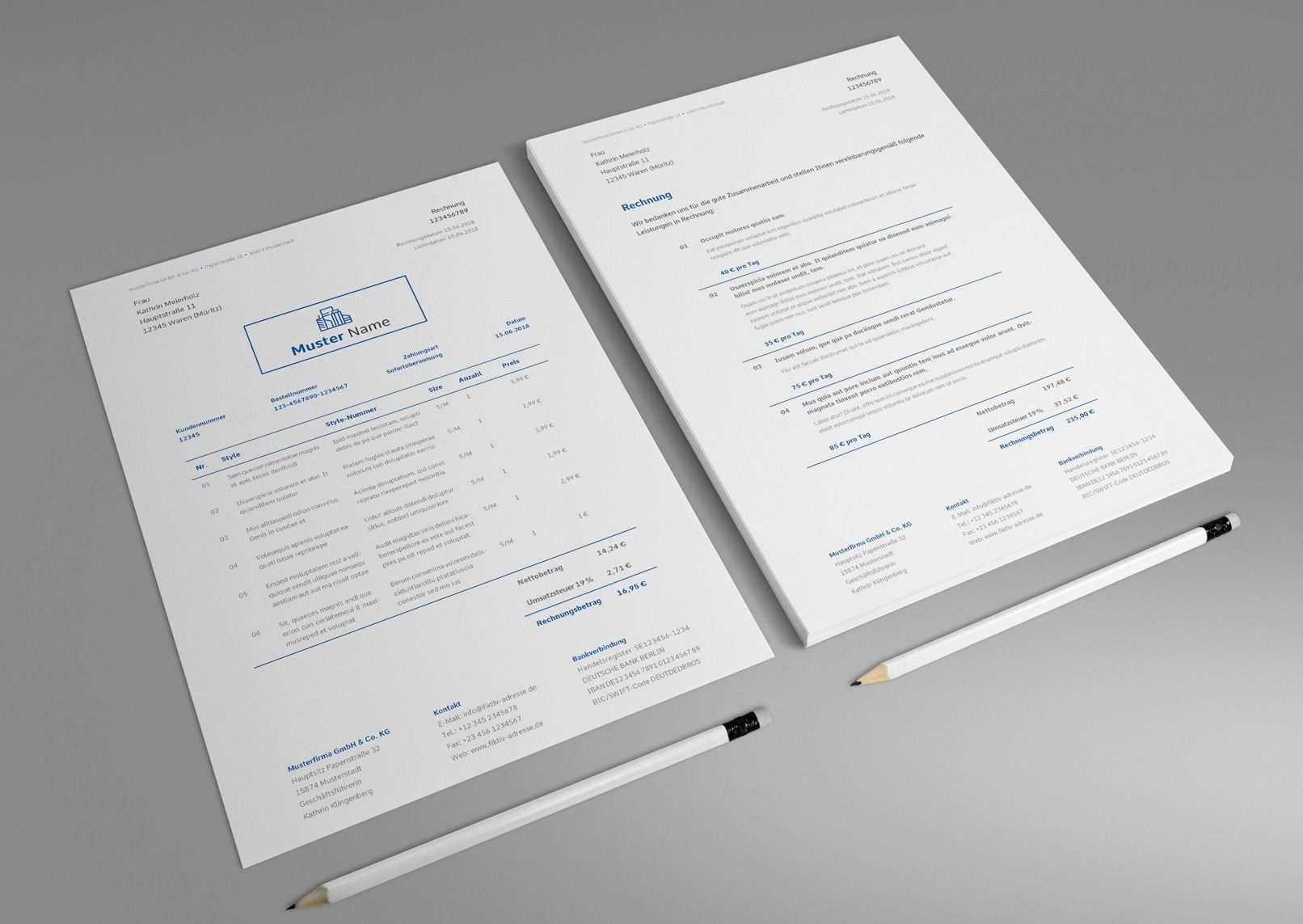 Rechnungsvorlagen Lieferscheine Und Angebote Fur Word Co Rechnung Vorlage Rechnungsvorlage Vorlagen