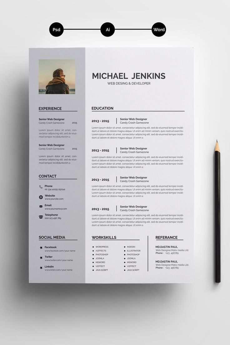 Jeakins Word Resume Resume Template 71706 71706 Jeakins Resume Template Word Lebenslauf Vorlagen Word Lebenslauf Design Vorlagen Lebenslauf