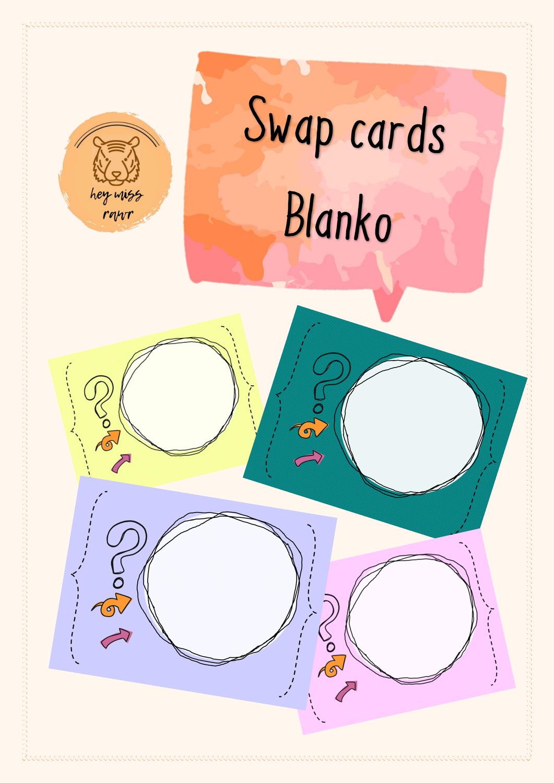 Blanko Vorlage Swap Cards Partnerkartchen Karten Karten Vorlagen Unterrichtsmaterial