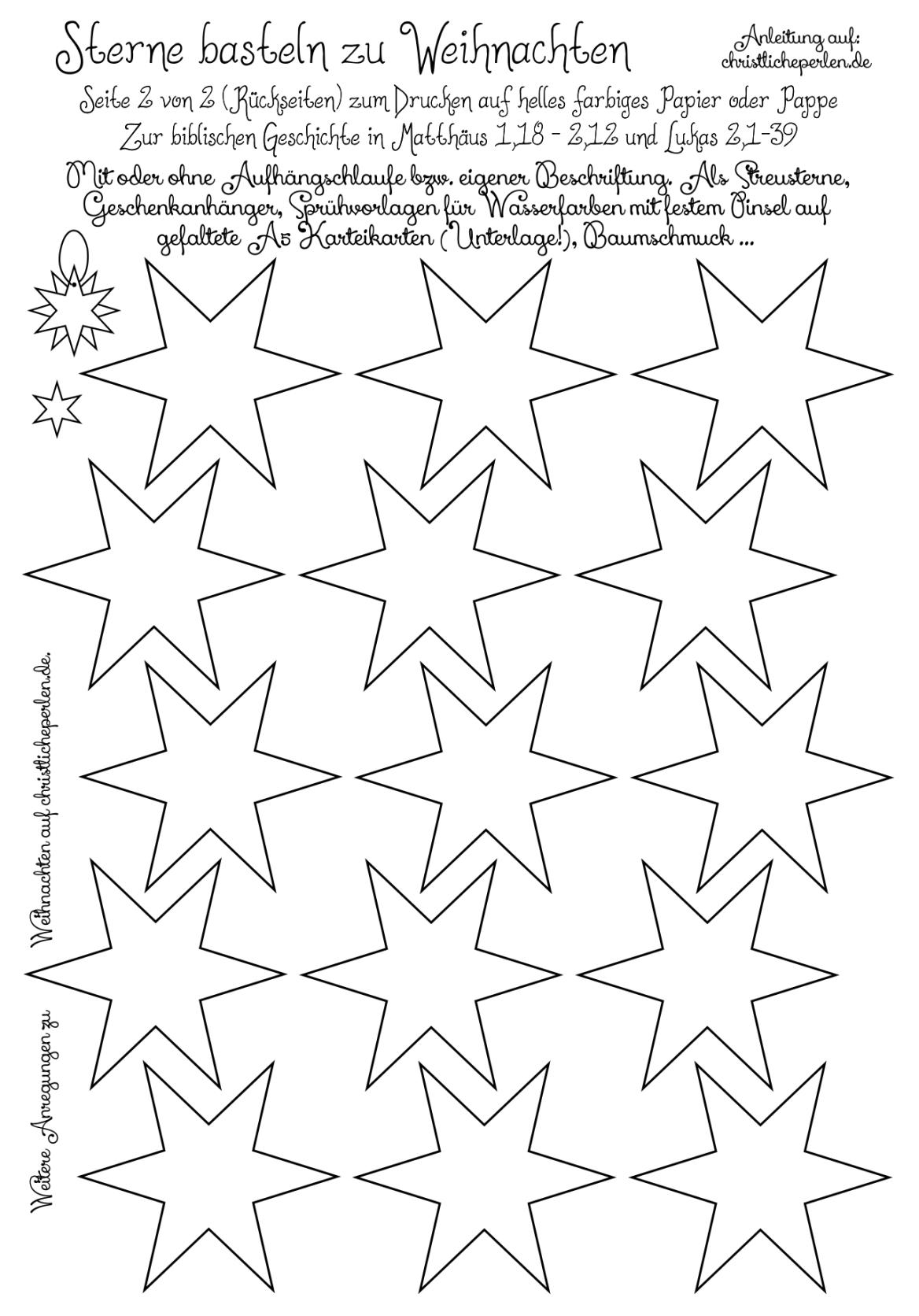 Christliche Impulse In Worten Filmen Und Bildern Sterne Zum Ausdrucken Vorlage Stern Sterne Zeichnen