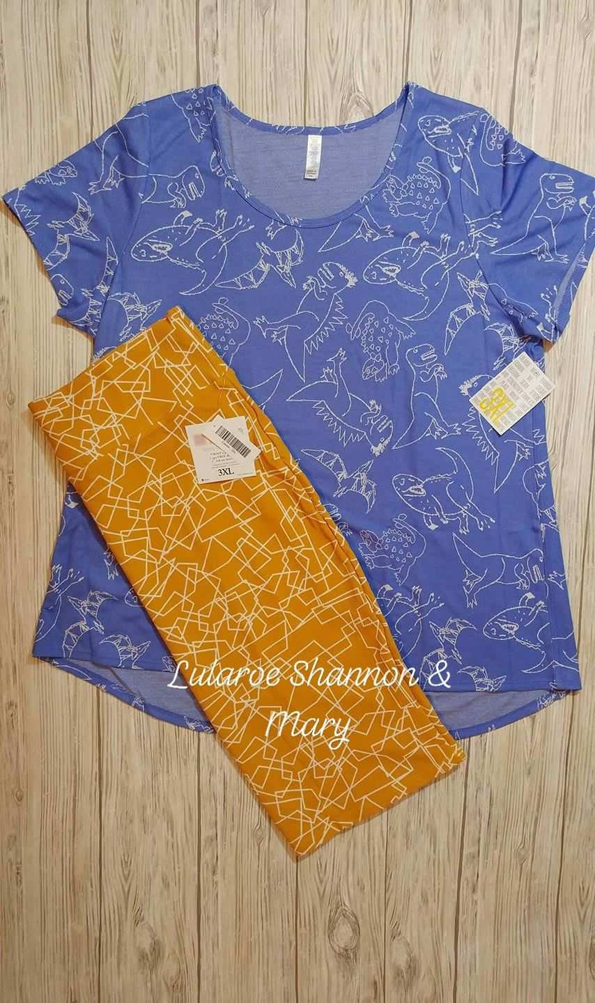 Dinosaurs Fabulous Lularoe Classic T Paired With A Mustard Lularoe Cassie Skirt Can Anyone Say Unicorn