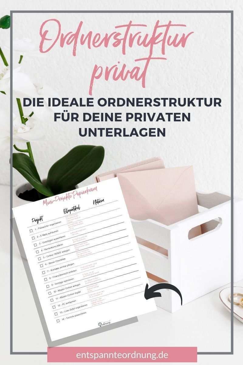 Private Ordnerstruktur Wie Du Sie Einfach Erstellst Durchhaltst Buroorganisation Tipps Organisationsprojekte Papier