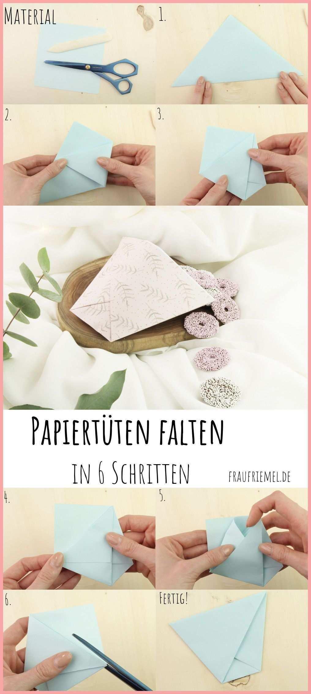 Papiertute Falten Gunstig Einfach Schon Frau Friemel Papiertuten Falten Papiertuten Basteln Papiertuten Diy