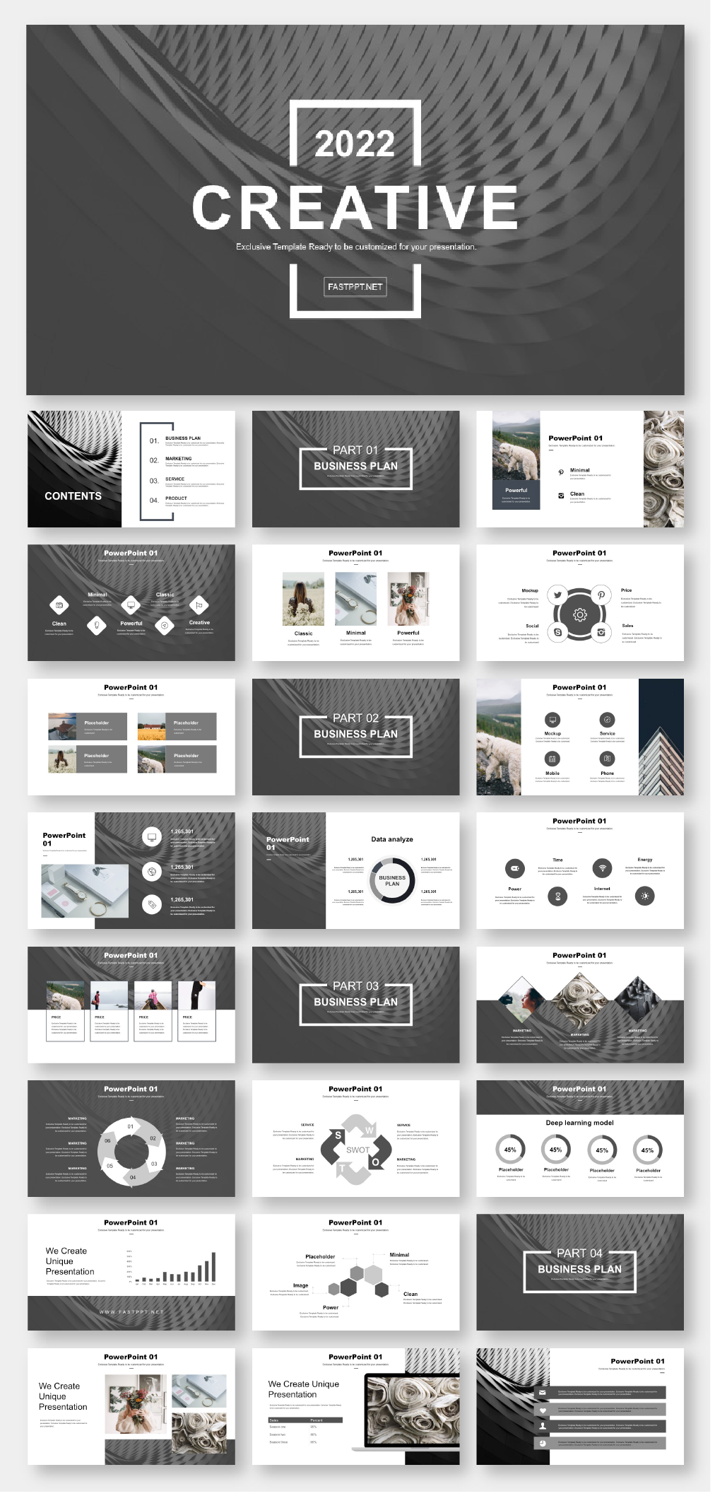 Black White Simple Business Report Powerpoint Template Original And High Quality Powerpoint Templates Powerpoint Presentation Design Powerpoint Design Templates Simple Powerpoint Templates