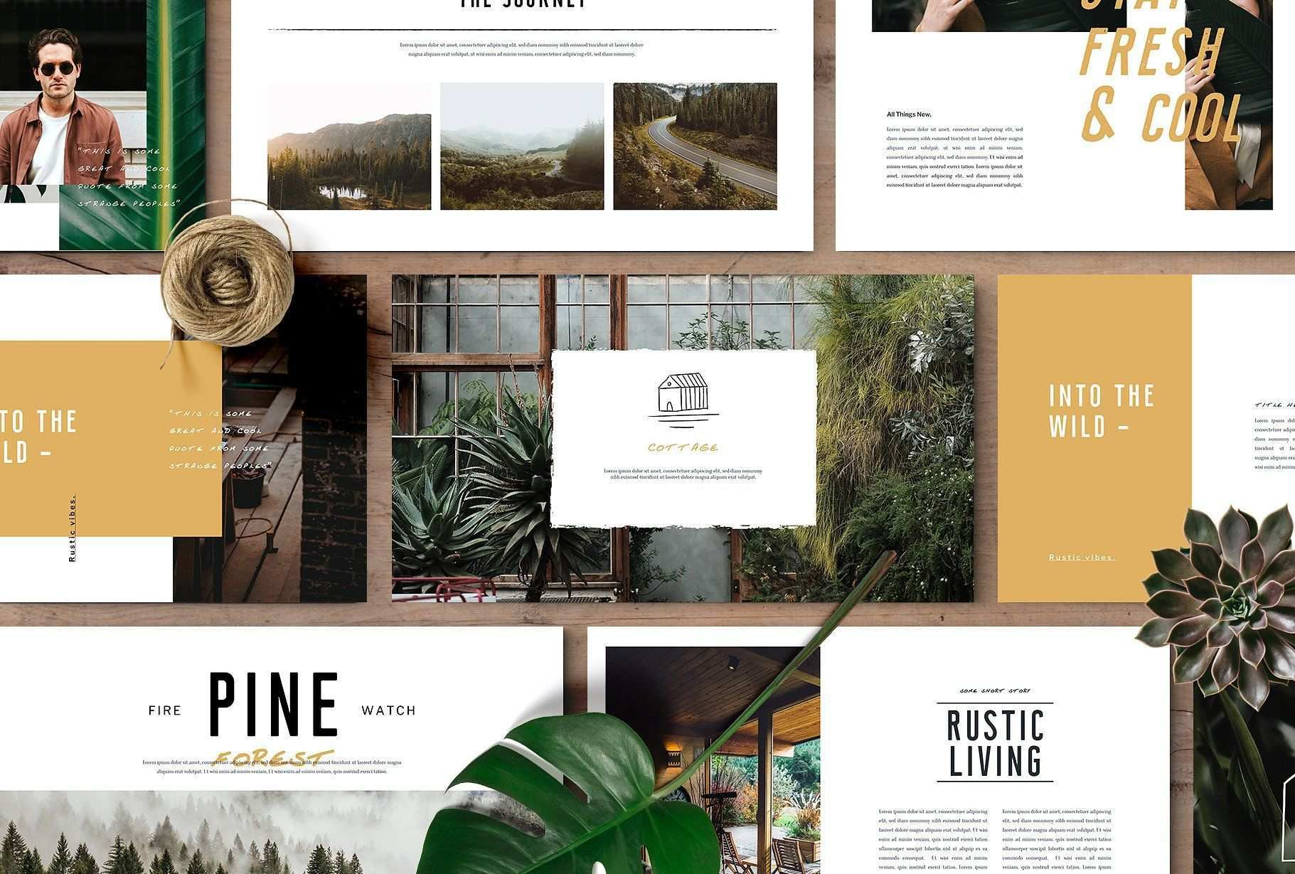 Monroe Powerpoint Template Booklet Layout Keynote Template Powerpoint Templates
