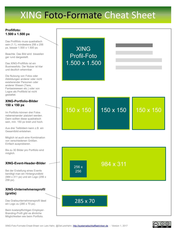 Xing Foto Formate Cheat Sheet Infografik Fur Profil Bildgrossen Systematisch Kaffeetrinken Infografik Bildgrossen Berufliche Weiterbildung