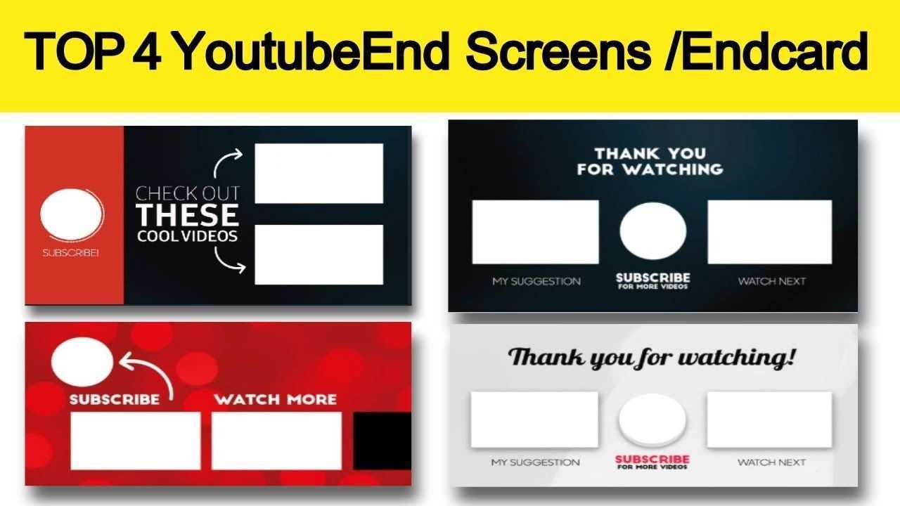 4 Top Youtube Video Outros End Screen End Card Template Free Downlo Card Template Card Templates Free Templates