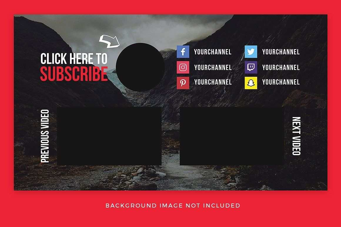 Youtube End Card Templates Card Templates Youtube Channel Art Youtube Design