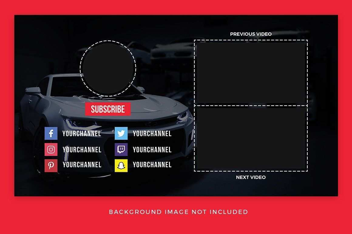 Youtube End Card Templates Video Design Youtube Youtube Editing Youtube Banners