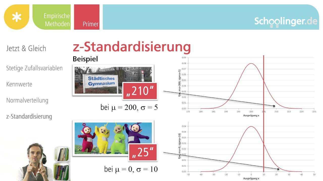 Wt 012 09 Apfel Mit Birnen Vergleichen Die Z Standardisierung Youtube