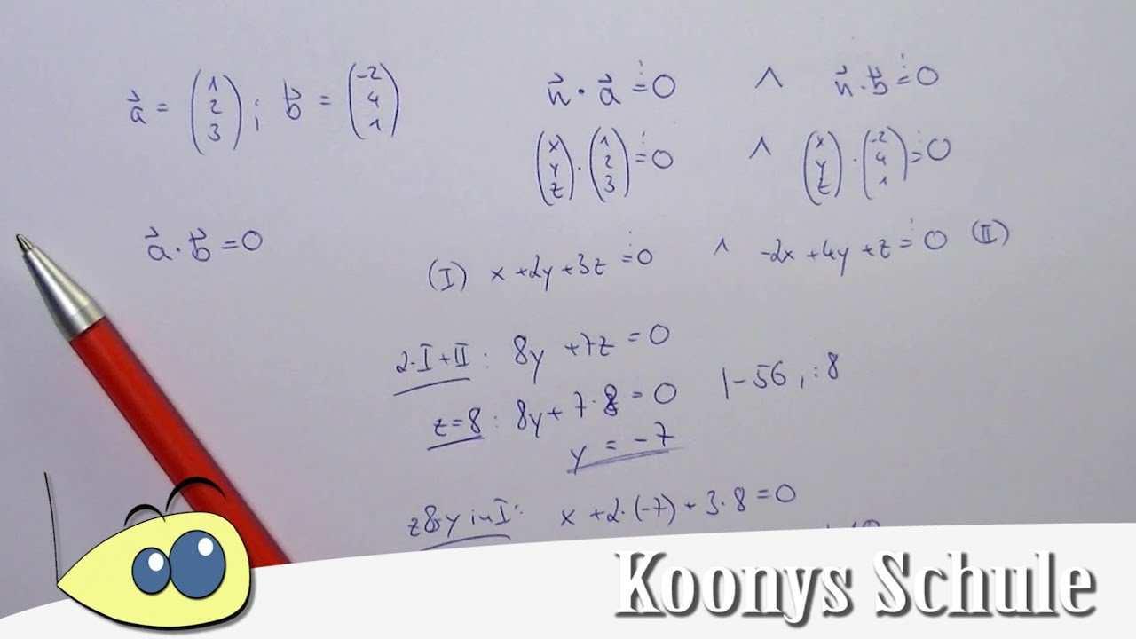 Orthogonalen Senkrechten Vektor Mit Skalarprodukt Bestimmen Normalenvektor Beispiel Youtube