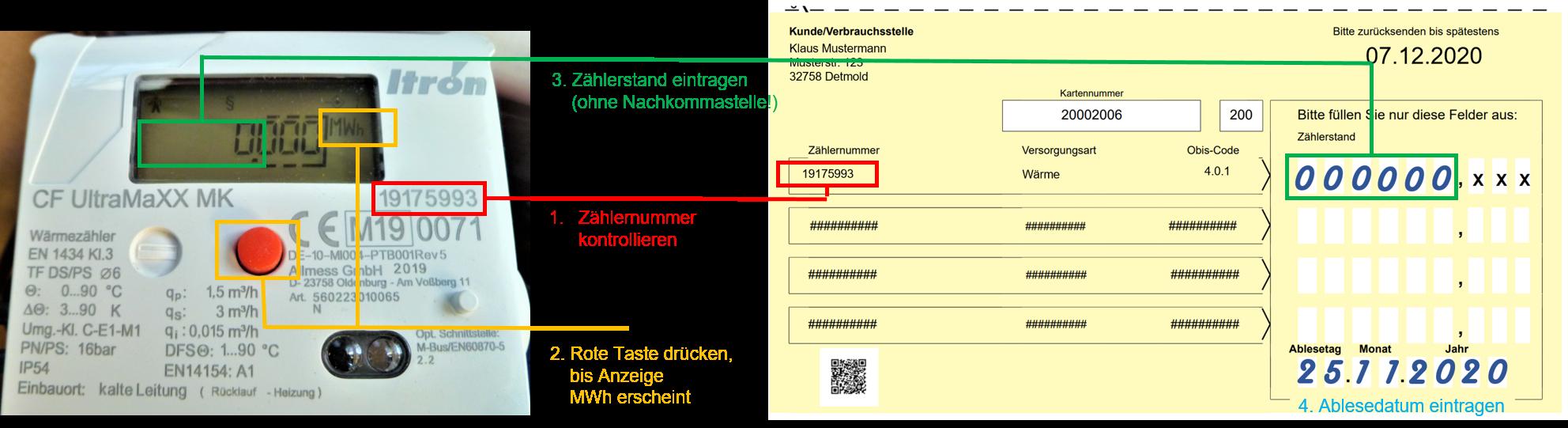 Stadtwerke Detmold Zahlerablesung Fur Die Jahresverbrauchsabrechnung 2020