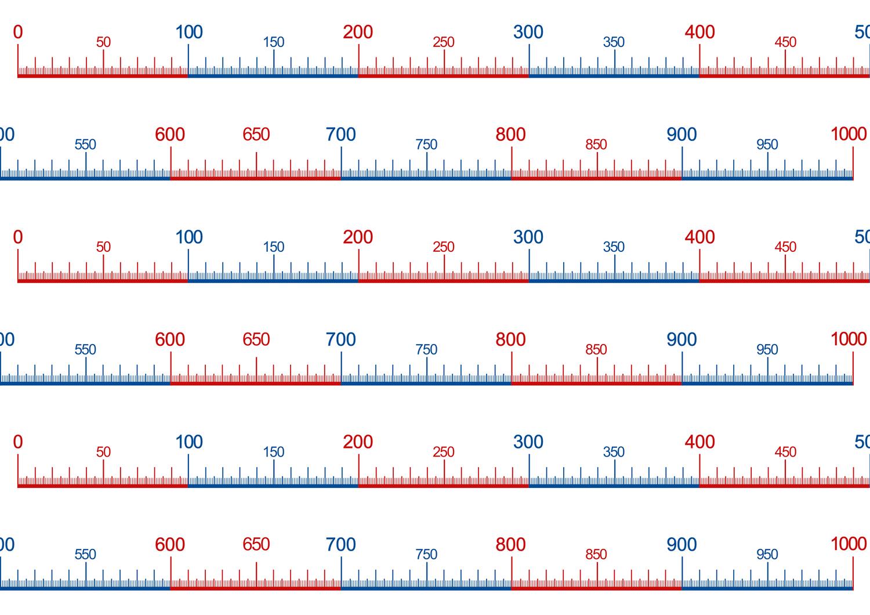 Zahlenstrahl Bis 1000 Zahlenstrahl Zahlen Ausdrucken