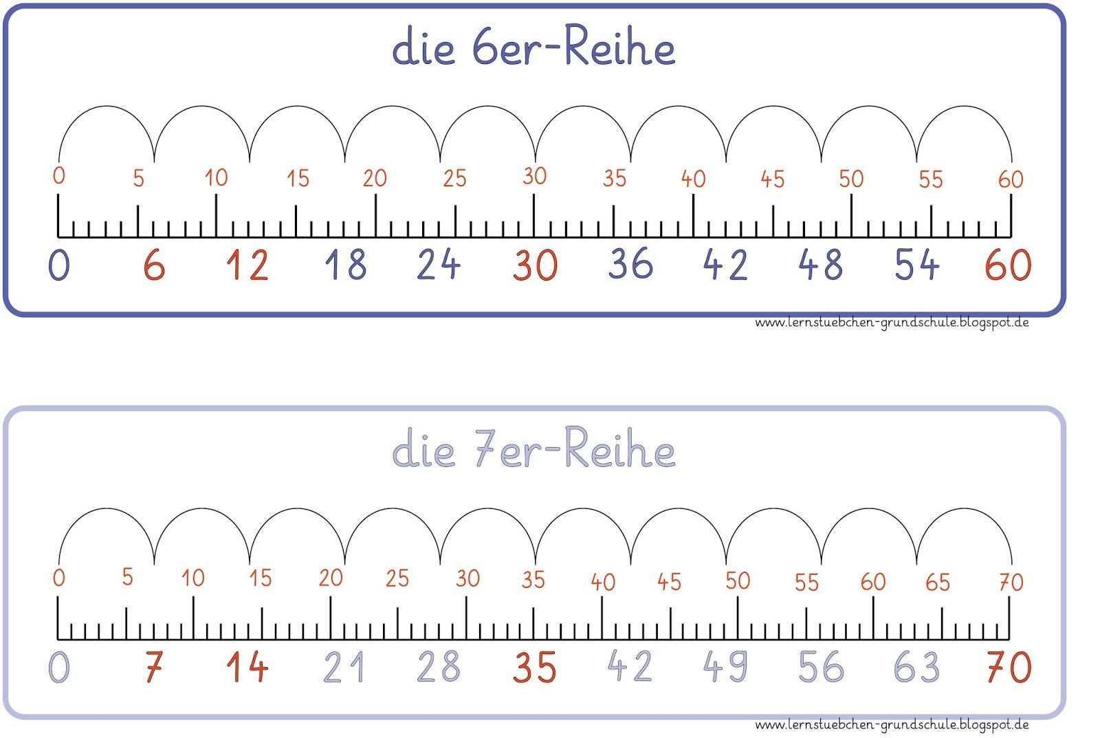Der 6er Bis 10er Reihen Lg Gille Hier Eine Ansicht Und Hier Der Link Einmaleins Lernen Mathematikunterricht