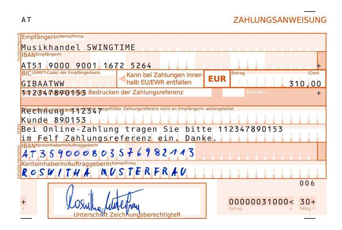 Stuzza Zahlen Mit System Zahlungsbelege