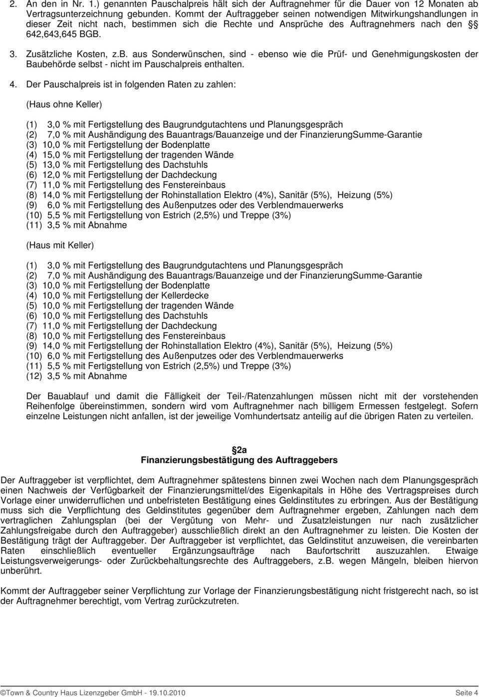 Bauwerkvertrag Fur Ihr Massivhaus Dh Behringen 116 Rechts Pdf Free Download