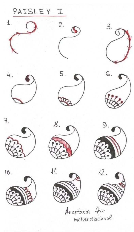 20 Einfache Malanleitungen Fur Anfanger Coole Sachen Zum Schrittweisen Zeichnen Henna Tutorial Muster Malen Zentangle Muster