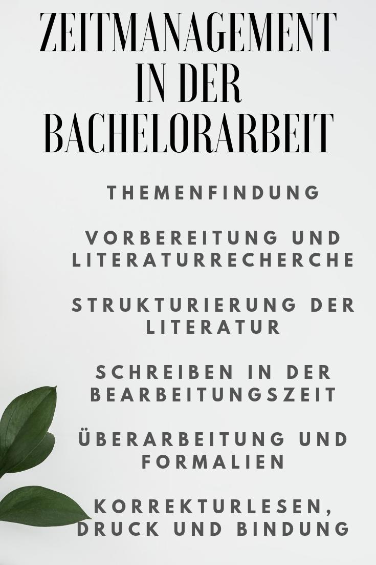 Zeitmanagement In Der Bachelorarbeit Bachelorarbeit Zeitmanagement Hausarbeit Schreiben
