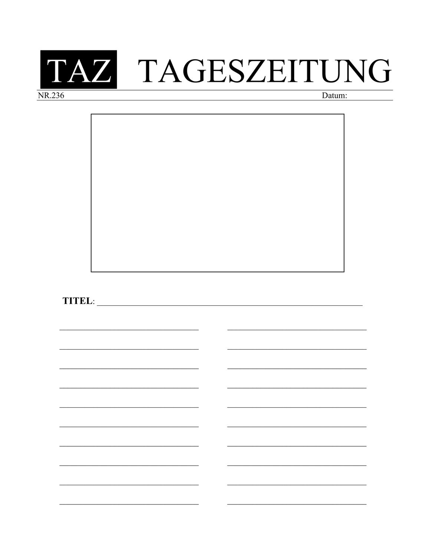 Vorlage Zeitungsartikel Schreiben Unterrichtsmaterial Im Fach Deutsch Zeitungsartikel Zeitungsartikel Vorlage Zeitung