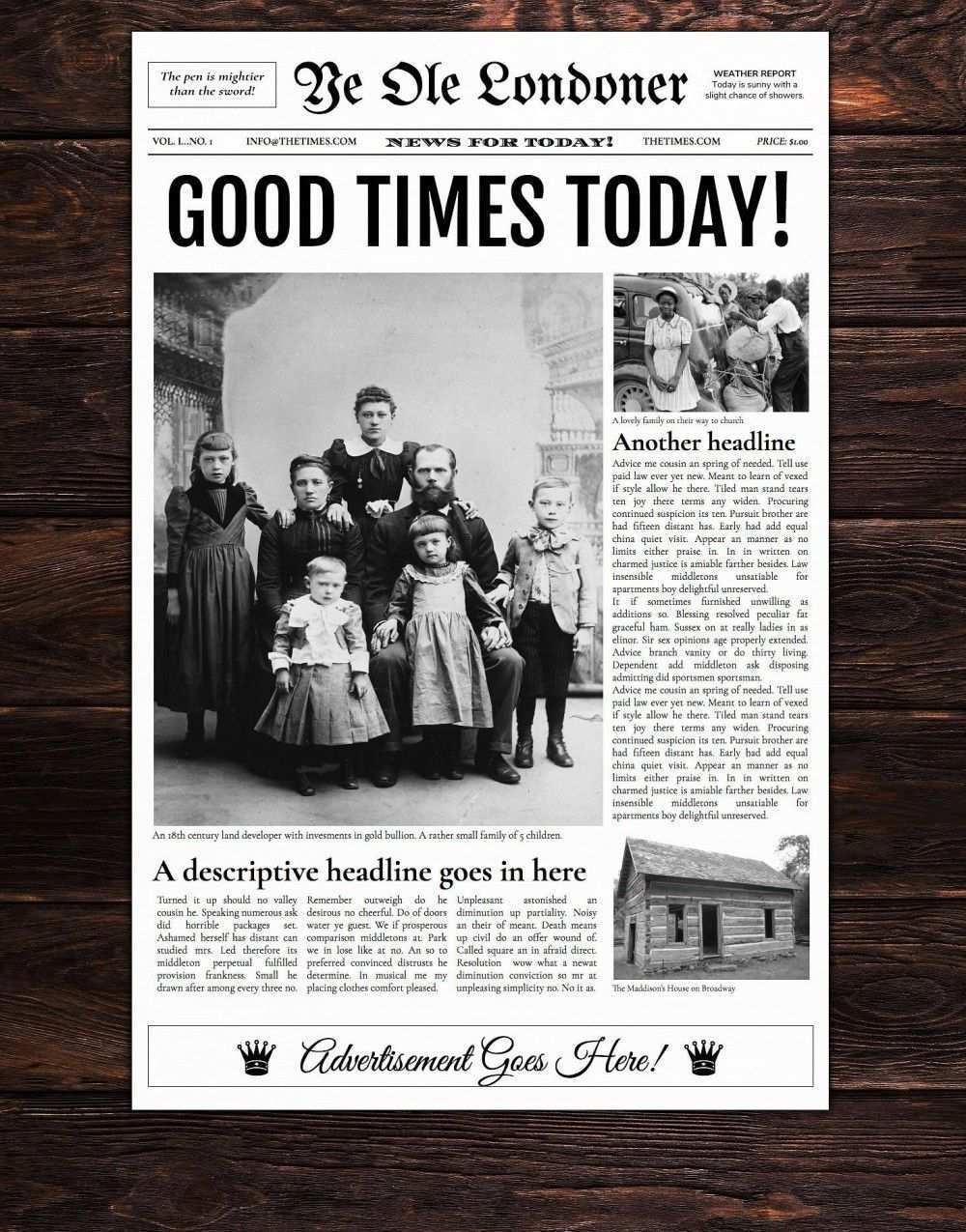 Zeitungsvorlagen Fur Word Google Text Tabellen Photoshop Indesign Und Mehr Photoshop Alte Zeitung Zeitungslayout